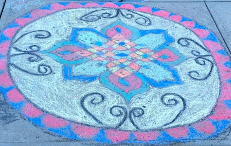 World Religions Class Creates Hindu Rangolis